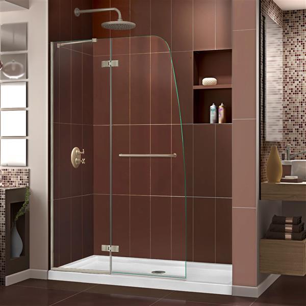 DreamLine Aqua Ultra Shower Door - 45-in x 72-in - Nickel