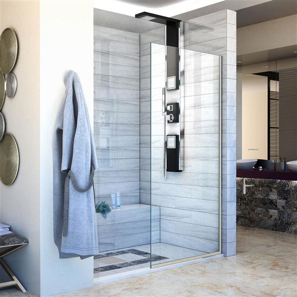 DreamLine Linea Fixed Shower Door - 30-in x 72-in - Nickel