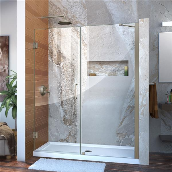 DreamLine Unidoor Shower Door - 59-in - Nickel