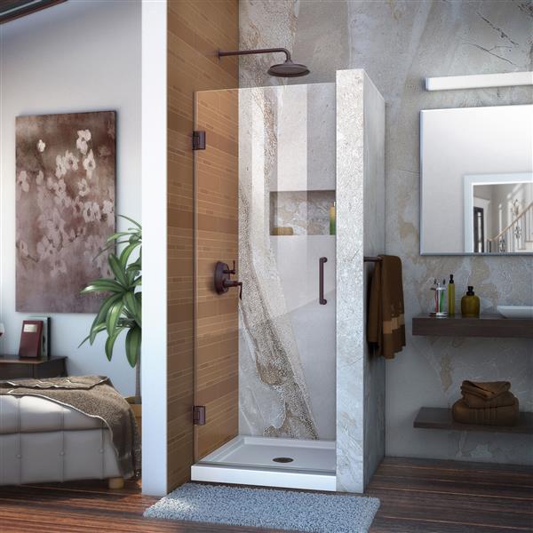 DreamLine Unidoor Shower Door - 30-in x 72-in - Bronze