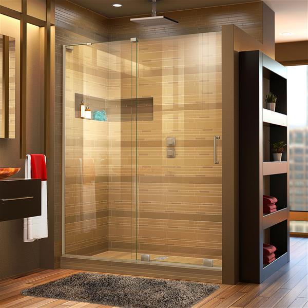 DreamLine Mirage-X Sliding Shower Door - 60-in - Nickel