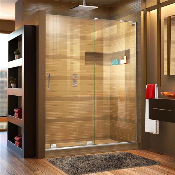 DreamLine Mirage-X Sliding Shower Door - 60-in - Chrome