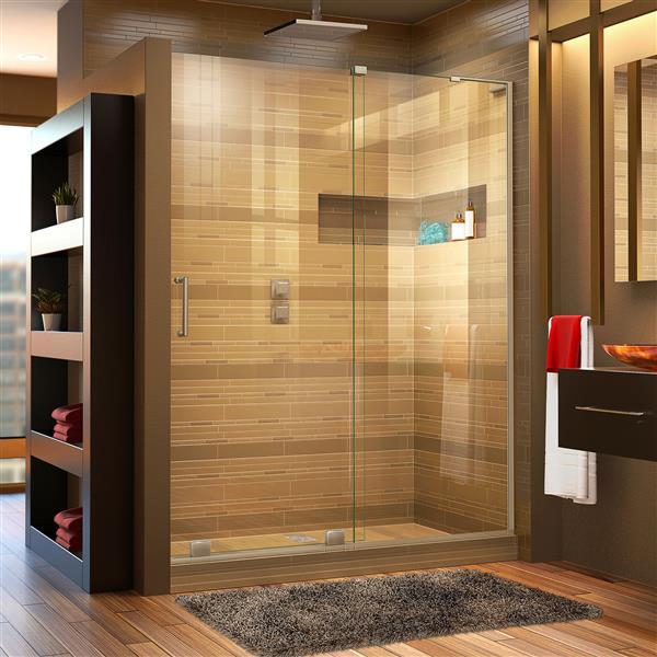 DreamLine Mirage-X Sliding Shower Door - 60-in x 72-in - Nickel