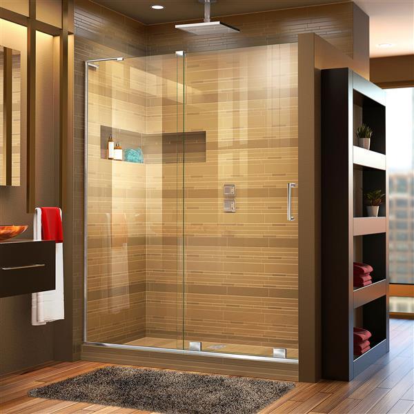 DreamLine Mirage-X Sliding Shower Door - 48-in x 72-in - Chrome