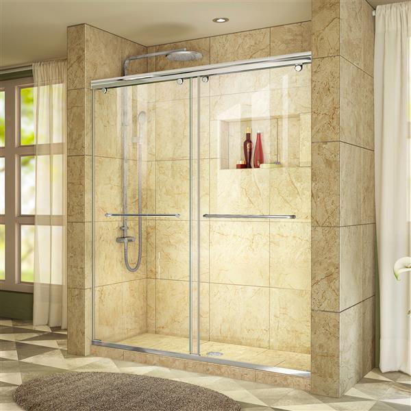DreamLine Charisma Sliding Shower Door - 60-in x 76-in - Chrome