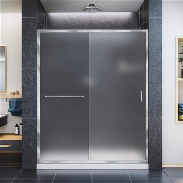 DreamLine Infinity-Z Sliding Shower Door - 60-in x -in - Chrome