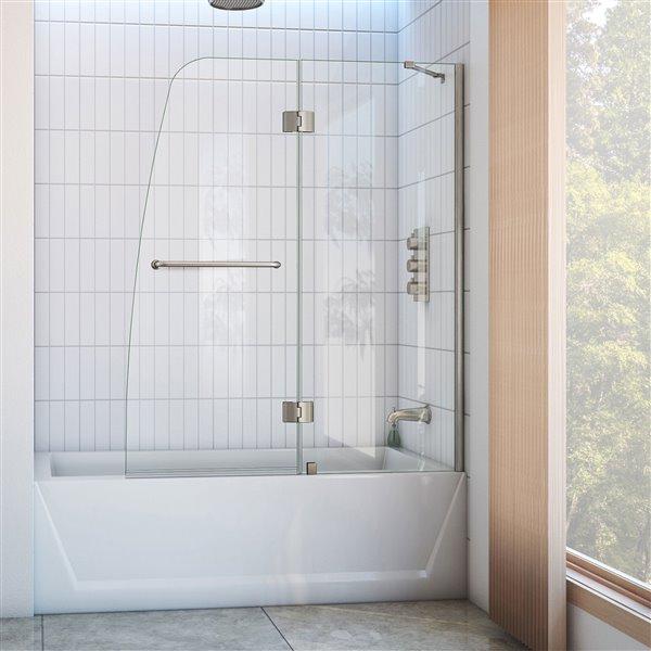 DreamLine Aqua Shower Door - 48.44-in x 58-in - Glass - Chrome