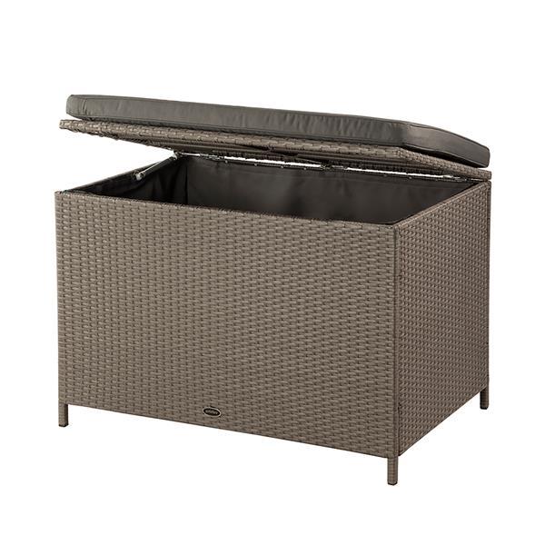 "Patio Flare Ferrara Deck Storage Box - Brown Wicker & Dark Grey - 35"""