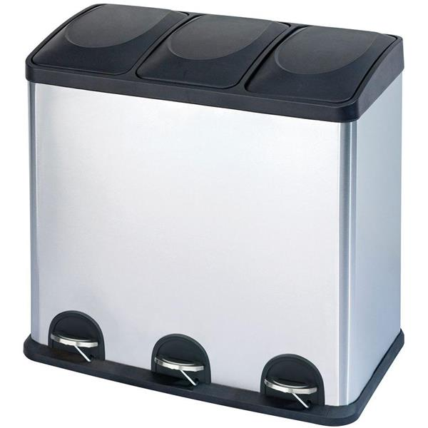 Step N' Sort 60L 3 Compartment Trash and Recycling Bin