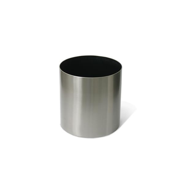 "Stainless Steel Straight Round Planter - 16"" x 16"""