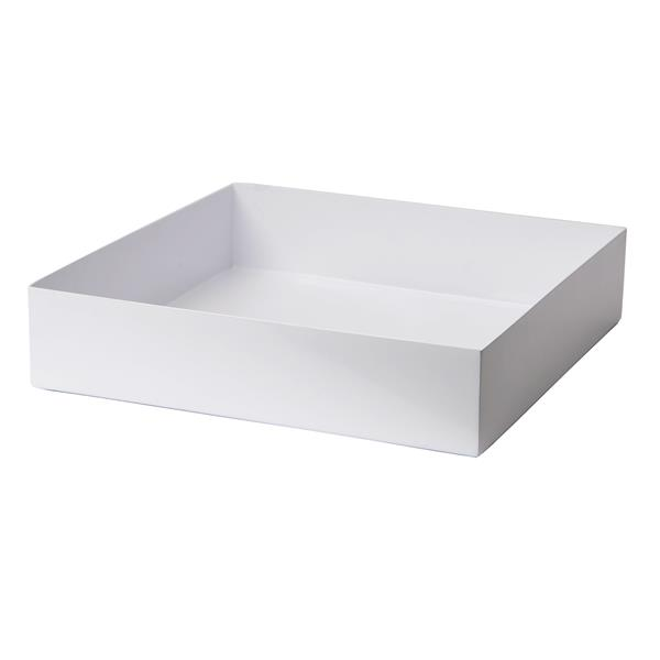 "Stainless Steel Square Planter - 14"" x 14"" x 3"" - White"
