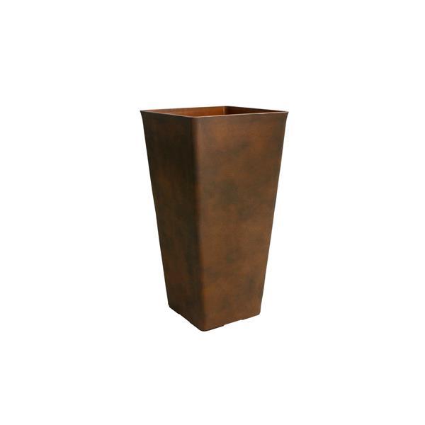 """Acerra Square Tapered Planter - 13"""" x 25"""" - Rust"""