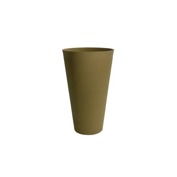 "Acerra Round Tapered Planter - 15"" x 24.5"" - Sand"