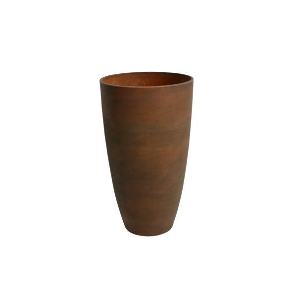 """Acerra Curved Vase Planter, 11.5"""" x 20"""" - Rust"""