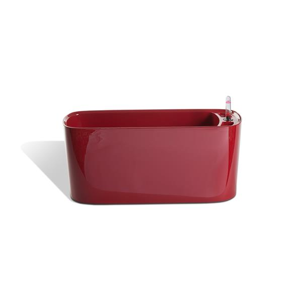Modena Self-Watering Windowsill Planter - Glossy Red