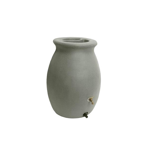 Algreen Castilla Rain Barrel - 50 Gallon - Taupestone
