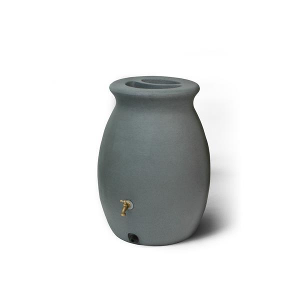 Algreen Castilla Rain Barrel - 50 Gallon - Charcoal