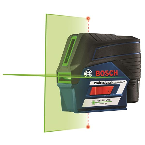 Bosch Connected Green-Beam Cross-Line Laser - 12V Max