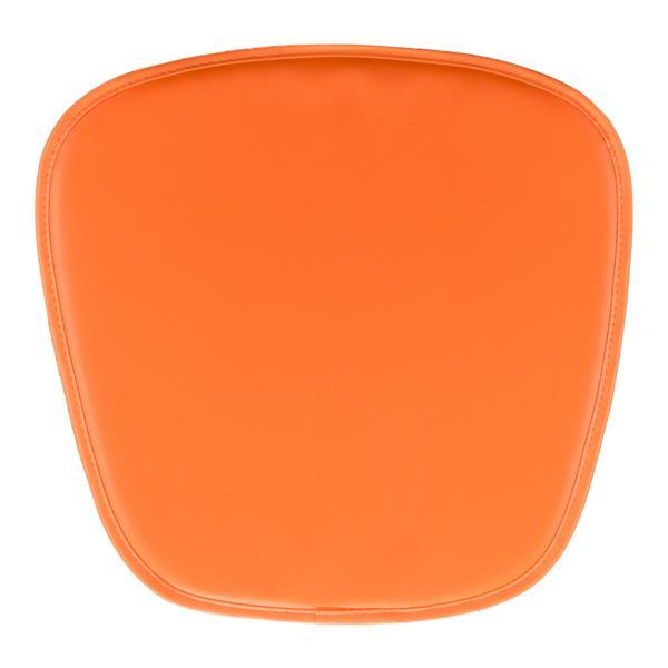 Zuo Modern Chair Cushion - 15-in x 17-in x 17-in - Orange