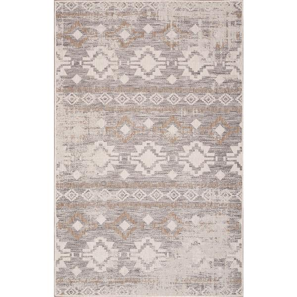Erbanica Indoor-Outdoor Polypropylene Rug - Ivory Sand - 5' x 8'