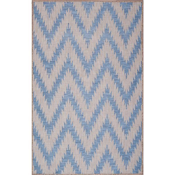Erbanica Indoor-Outdoor Polypropylene Rug - Blue/Grey - 8' x 10'