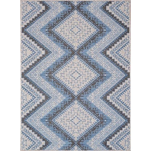 Erbanica Indoor-Outdoor Polypropylene Rug - Grey/Blue - 7' x 9'