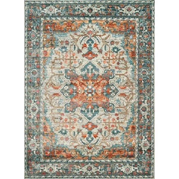 Erbanica Vintage Venesia Multi-Colored Soft Pile Rug - 5' x 8'
