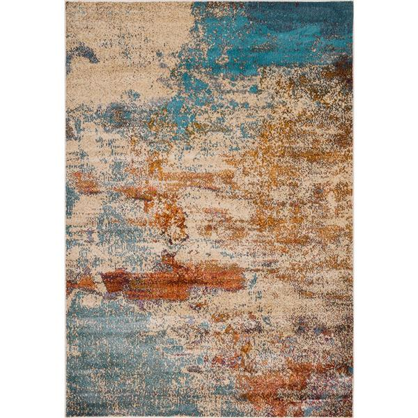 Erbanica Modern Abstract Multi-Colored Soft Pile Rug - 5' x 8'