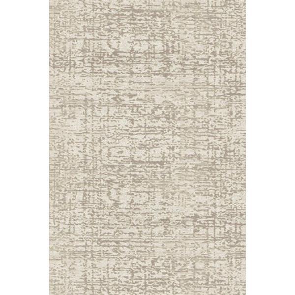 Erbanica Textured Polypropylene Cream Dark Beige Rug - 5' x 8'