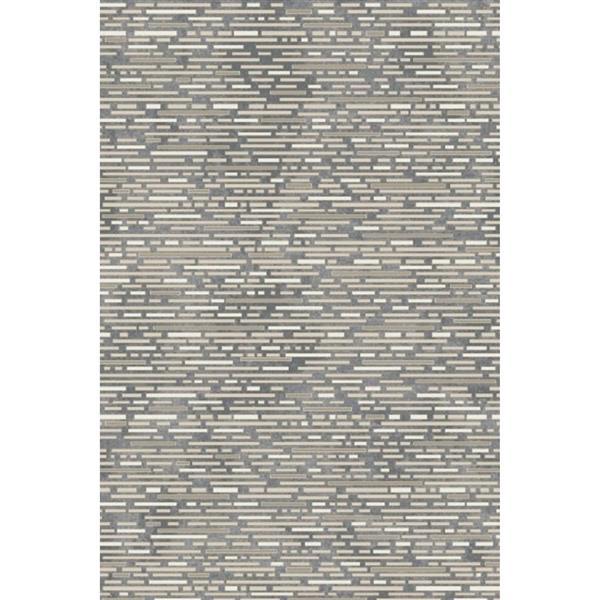 Erbanica Textured Polypropylene Dark Grey/Grey Rug - 8 x 10'