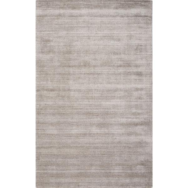 Tapis de laine viscose fait à la main, Taupe, 5'x8'