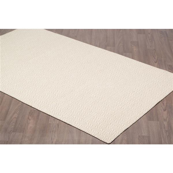 Erbanica Diamond Flat Weave Reversible Wool Rug - Beige - 8' x 10'