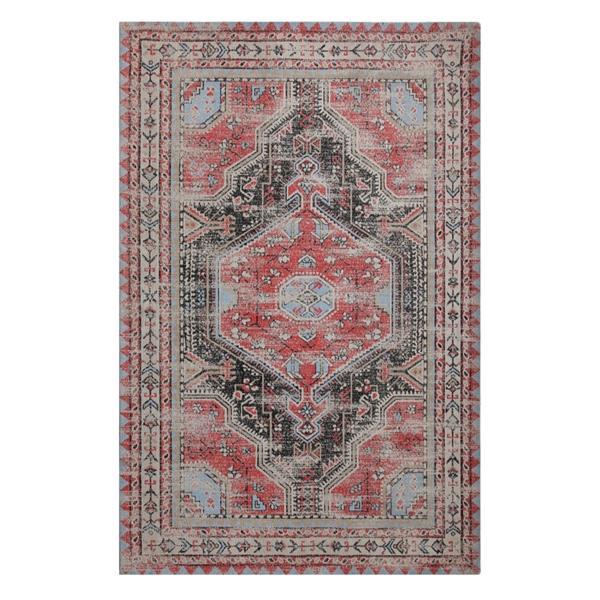 Erbanica Handmade Chenille Cotton Vintage Rug - Multicolor - 5' x 8'