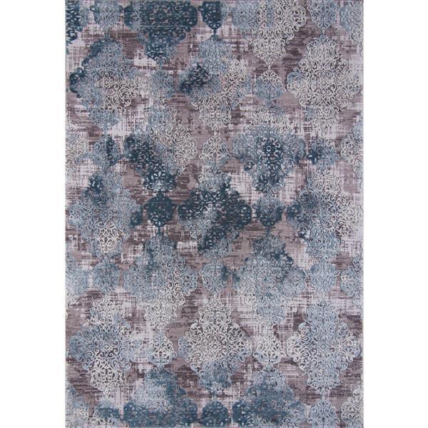 Segma Lorraine Area Rug - 8-ft x 11-ft - Polypropylene - Gray/Blue