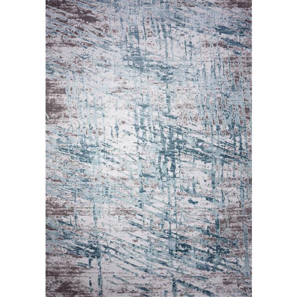 Segma Rachel Area Rug - 5-ft x 8-ft - Polypropylene - Gray/Blue