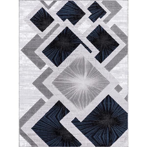 Tapis Diablue, 8' x 11', polypropylène, gris/bleu