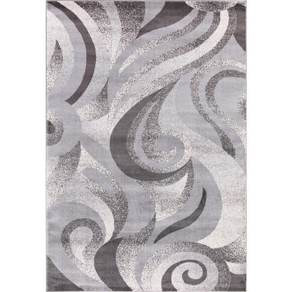 Segma Swirlsplash Area Rug - 5-ft x 8-ft - Polypropylene - Gray