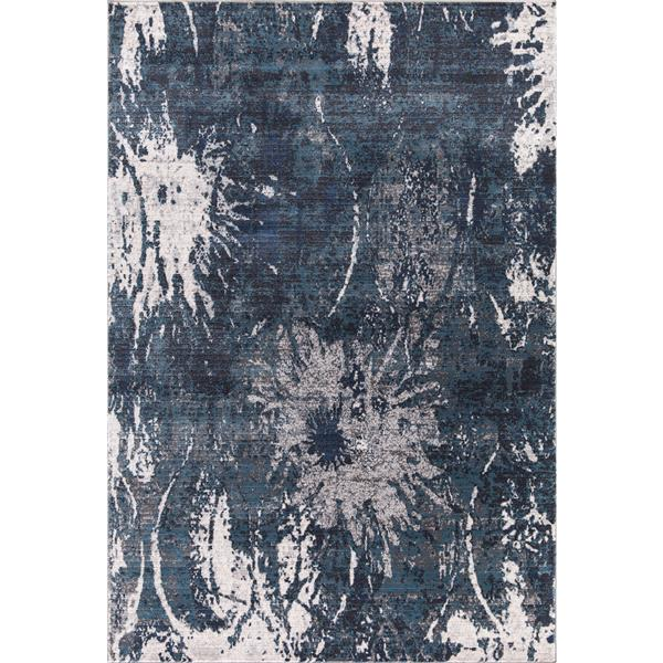 Tapis Alexandria, 5' x 8', polypropylène, bleu