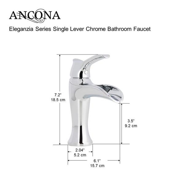 Ancona Eleganzia Series Single Lever Bathroom Faucet