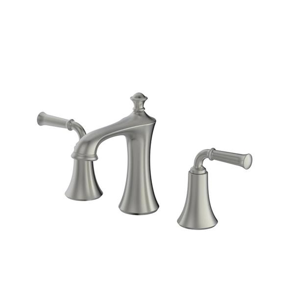 Ancona Peonia Widespread Bathroom Faucet - Nickel - 6.7""