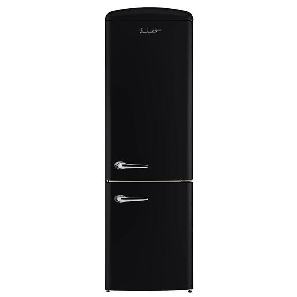 Chambers 24-in 12-cu ft. Bottom Mount Retro Refrigerator (Black)