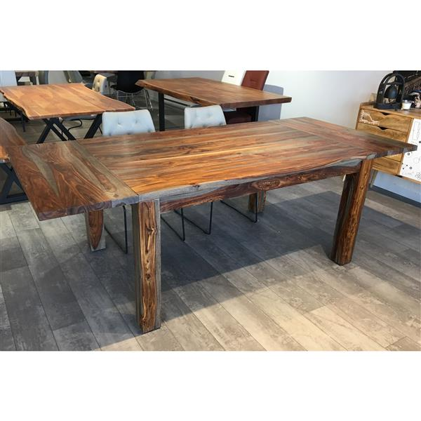 """Corcoran Extendable Grey Sheesham Dining Table -  60""""(92"""")"""