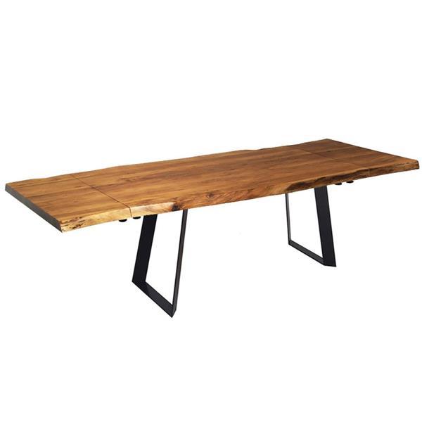 """Table extensible en bois d'Acacia, 64""""(96"""")"""