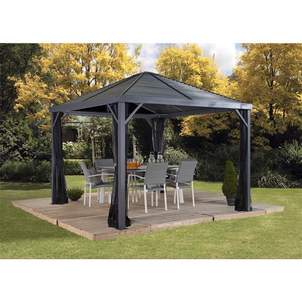 Sojag Sanibel Aluminum Sun Shelter - 8-ft x 8-ft - Grey