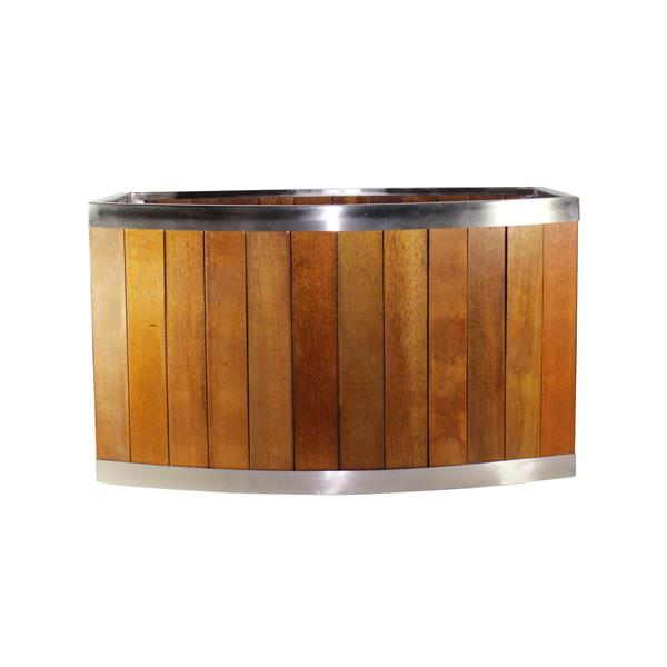 Leisure Season Oval Planter - 16-in x 10-in - Wood - Brown