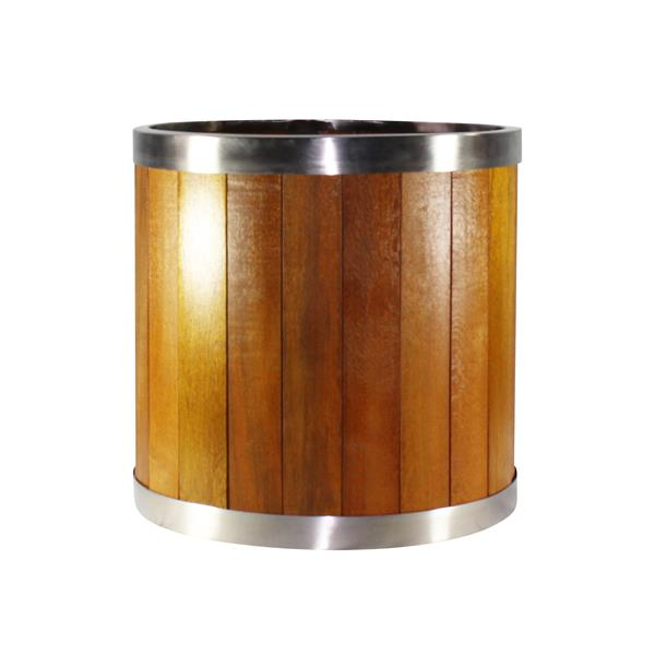 Leisure Season Round Planter - 12-in x 12-in - Wood - Brown