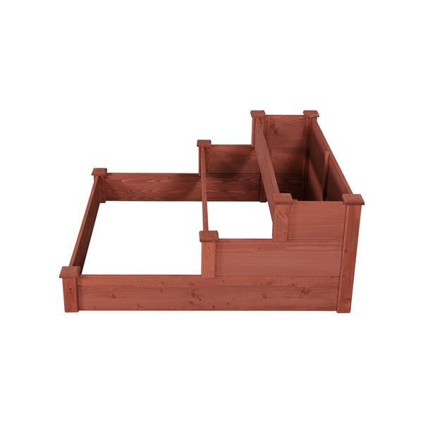 Leisure Season 3-Tier Garden Bed - 48-in x 21-in - Cedar - Brown