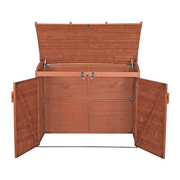 Remise pour déchets, 62'' x 48'', cèdre, brun