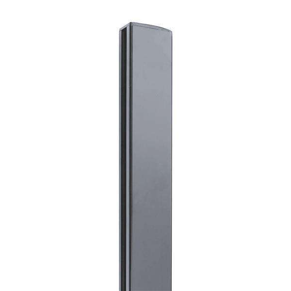 "Stratco Quick Screen Aluminum 2-Way Post - 94"" x 2.5"" - Slate Grey"