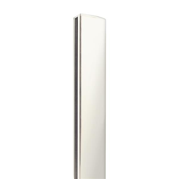 "Stratco Quick Screen Aluminum 2-Way Post - 94"" x 2.5"" - White"